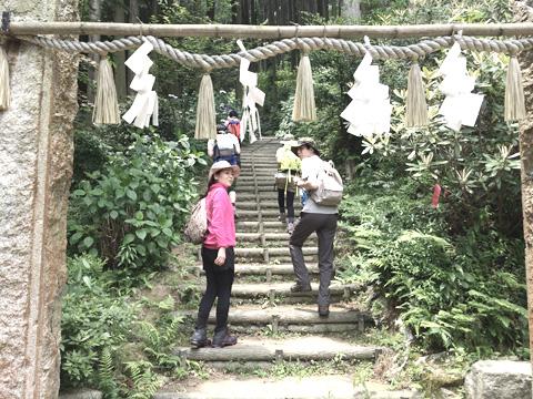 飯盛山登山道
